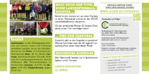 Herausforderer gesucht: ECHN Landesfußballmeisterschaft 2017 - Flyer Seite 2