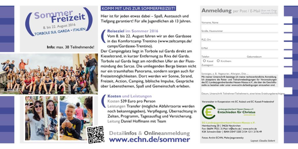 Flyer Sommerfreizeit am Gardasee 2016 Seite 2