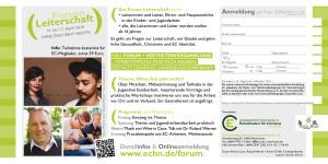 Flyer - Ohne Dich geht nichts - Forum Leiterschaft